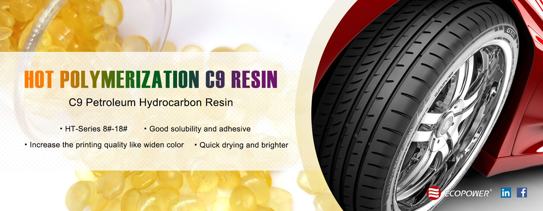 Hot Polymerization Performance C9 Petroleum Resin