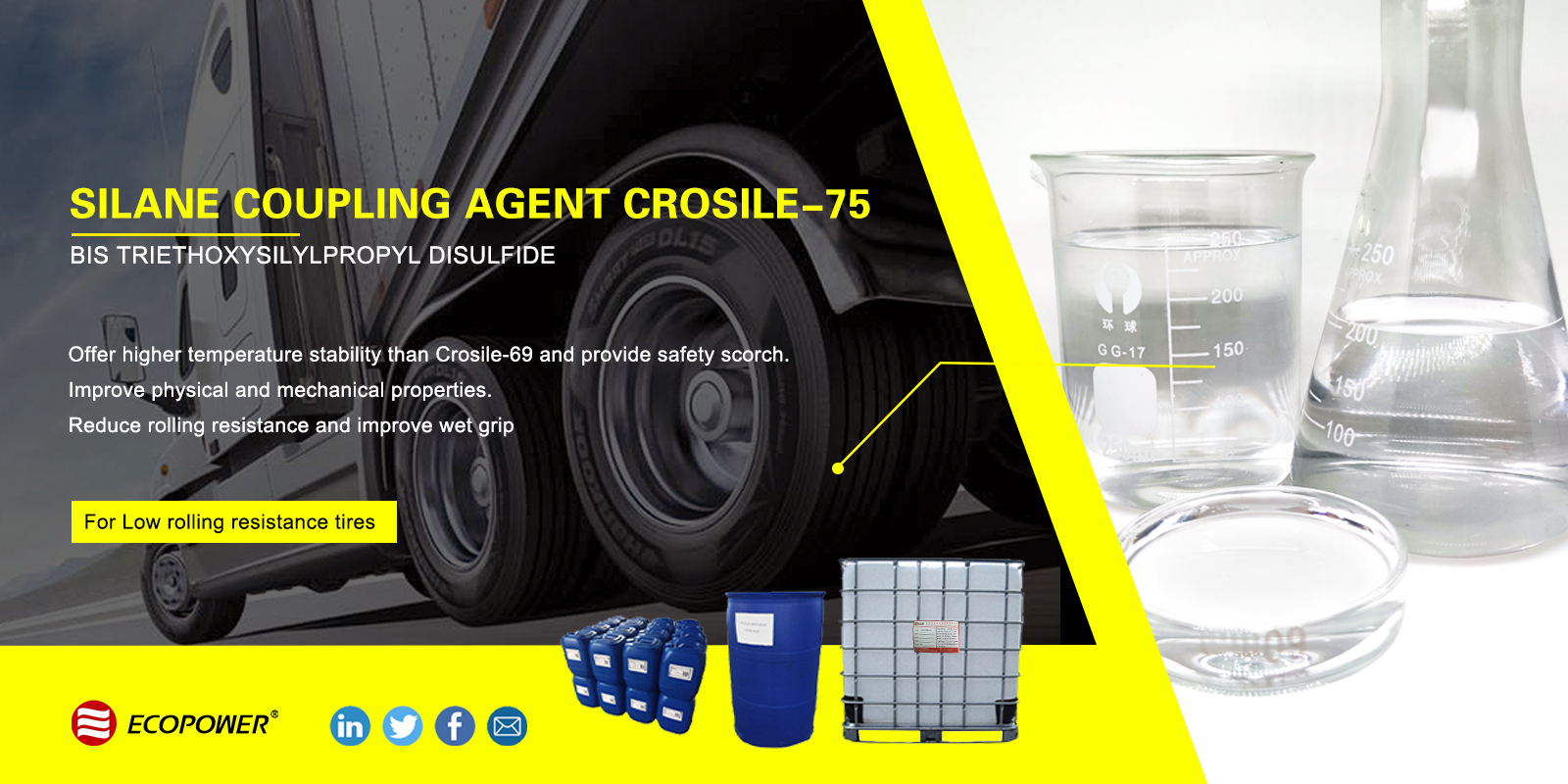 Bis Triethoxysilylpropyl Disulfide Crosile -75