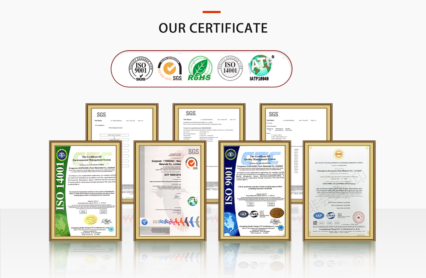 certificates in ECOPOWER